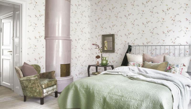 Отделка стен в спальне прованс 4