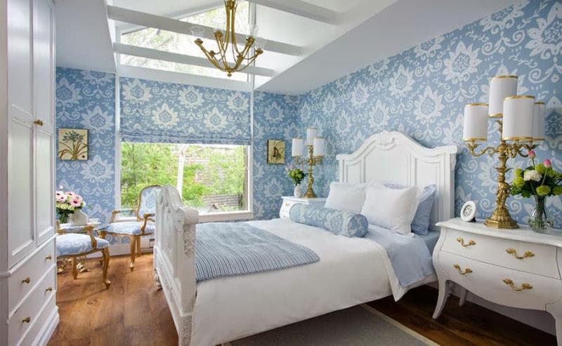 Пол в спальне в стиле прованс 1