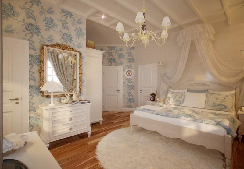 Принты в прованской спальне 2