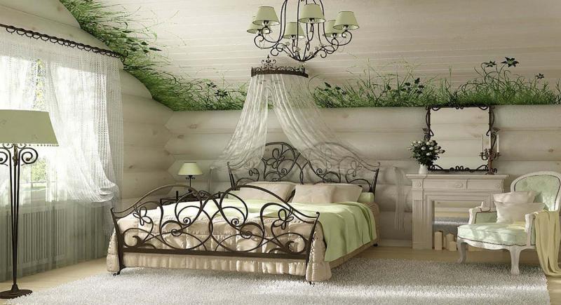 Принты в прованской спальне 5