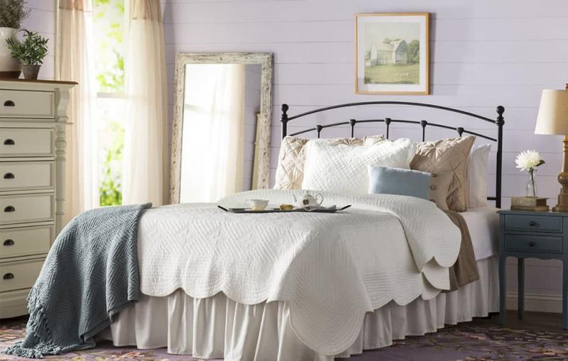 Спальня в стиле прованс в частном доме 3