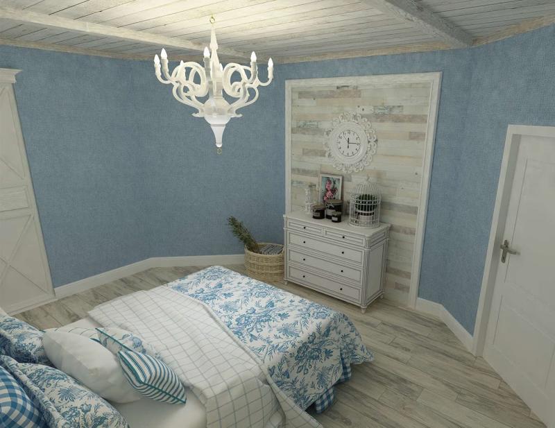 Спальня в стиле прованс в квартире 3