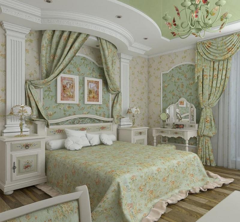 Текстиль для спальни в стиле прованс 1