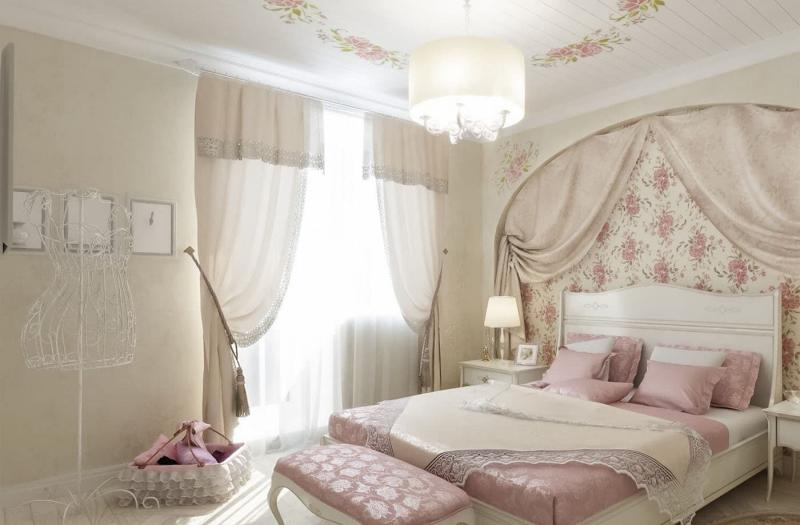 Текстиль для спальни в стиле прованс 2