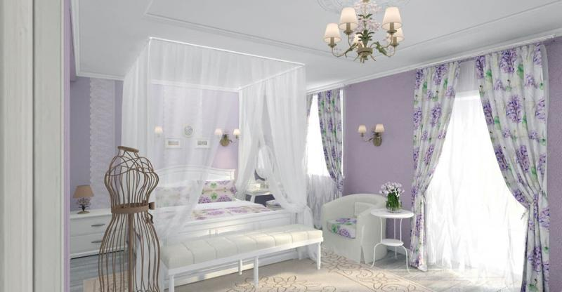 Текстиль для спальни в стиле прованс 3