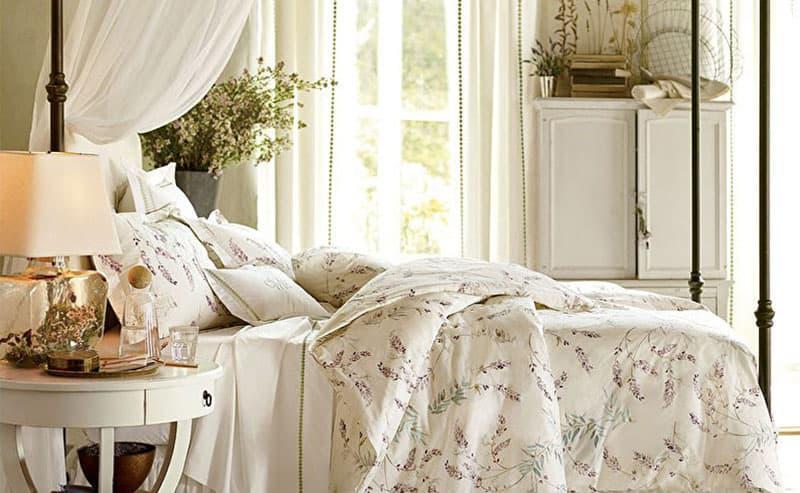 Текстиль для спальни в стиле прованс 4