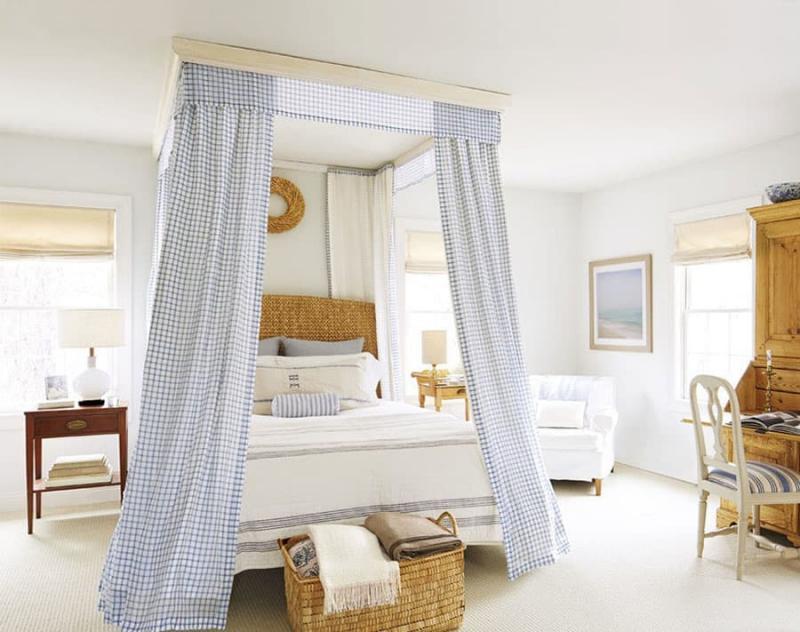 Текстиль для спальни в стиле прованс 7