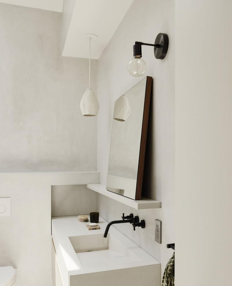 Бетон и гипс в интерьере ванной комнаты 1