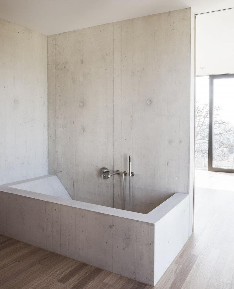 Бетон и гипс в интерьере ванной комнаты 2