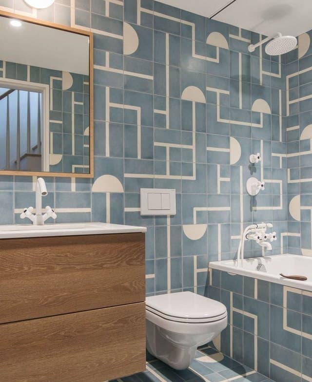 Эклектичная плитка в интерьере ванной комнаты 1