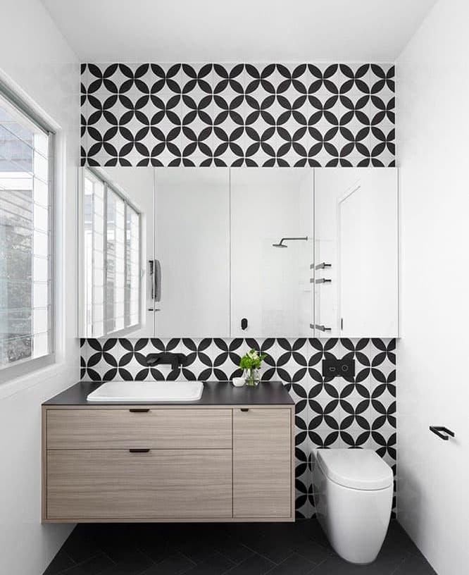 Эклектичная плитка в интерьере ванной комнаты 4