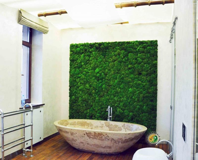 Фитомодуль в интерьере ванной комнаты 3