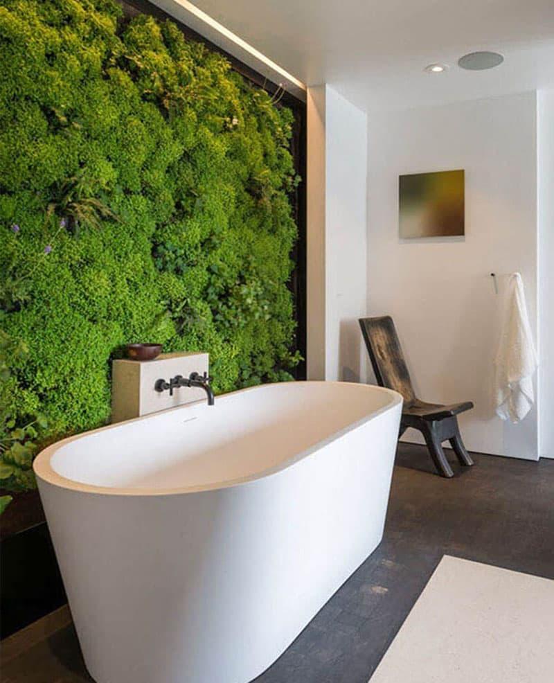 Фитомодуль в интерьере ванной комнаты 4