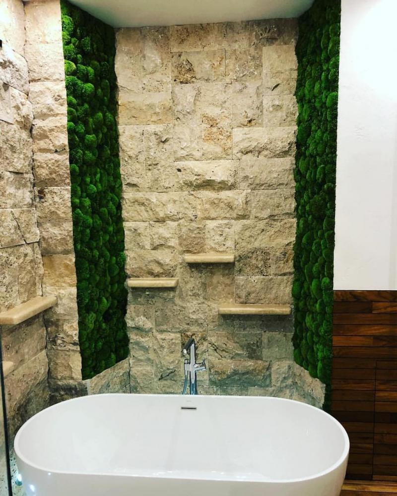 Фитомодуль в интерьере ванной комнаты 5