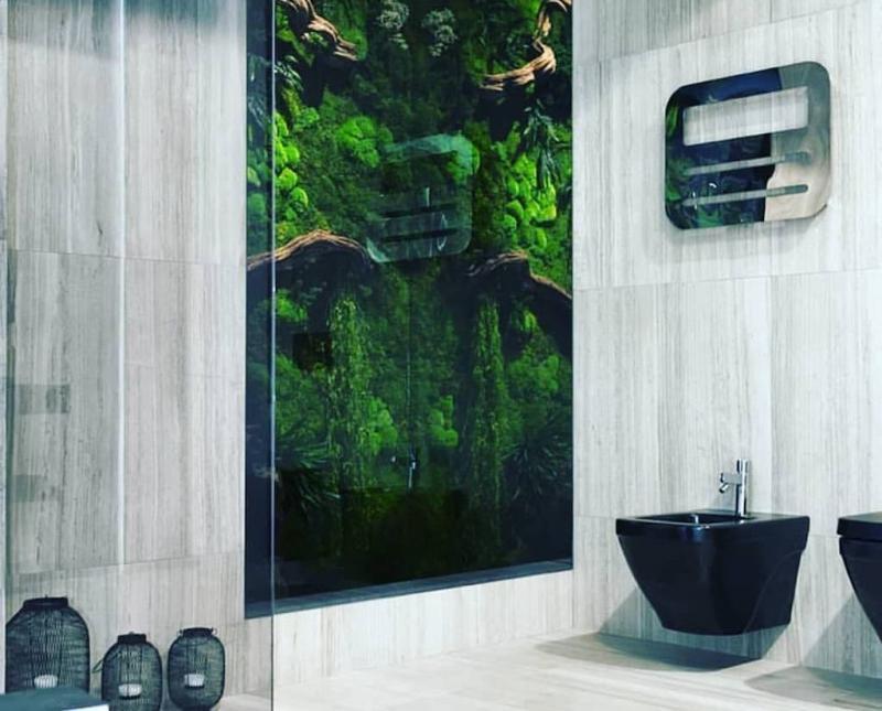 Фитомодуль в интерьере ванной комнаты 6
