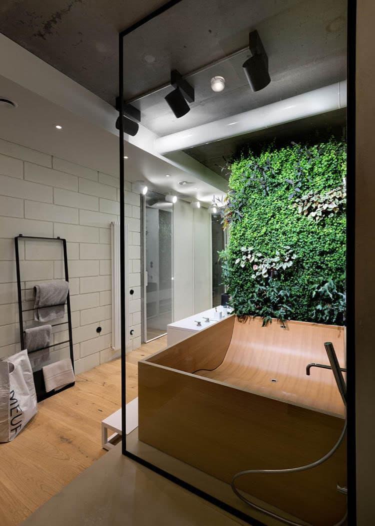Фитомодуль в интерьере ванной комнаты 8
