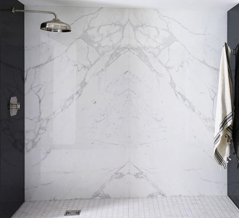 Мрамор в интерьере ванной комнаты 4