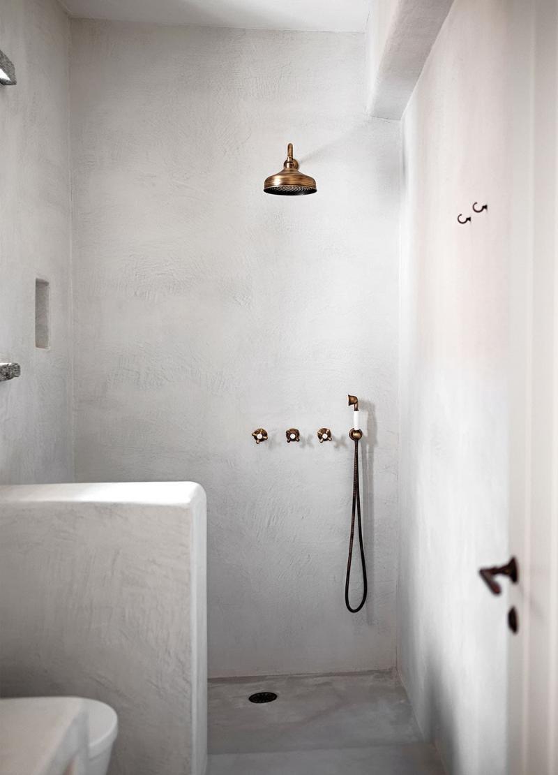 Один отделочный материал в ванной комнате 3