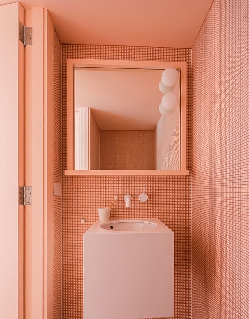 Один отделочный материал в ванной комнате 5