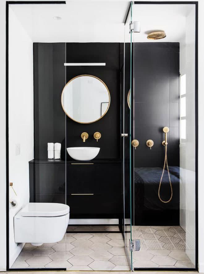 Открытый душ в ванной комнате 6