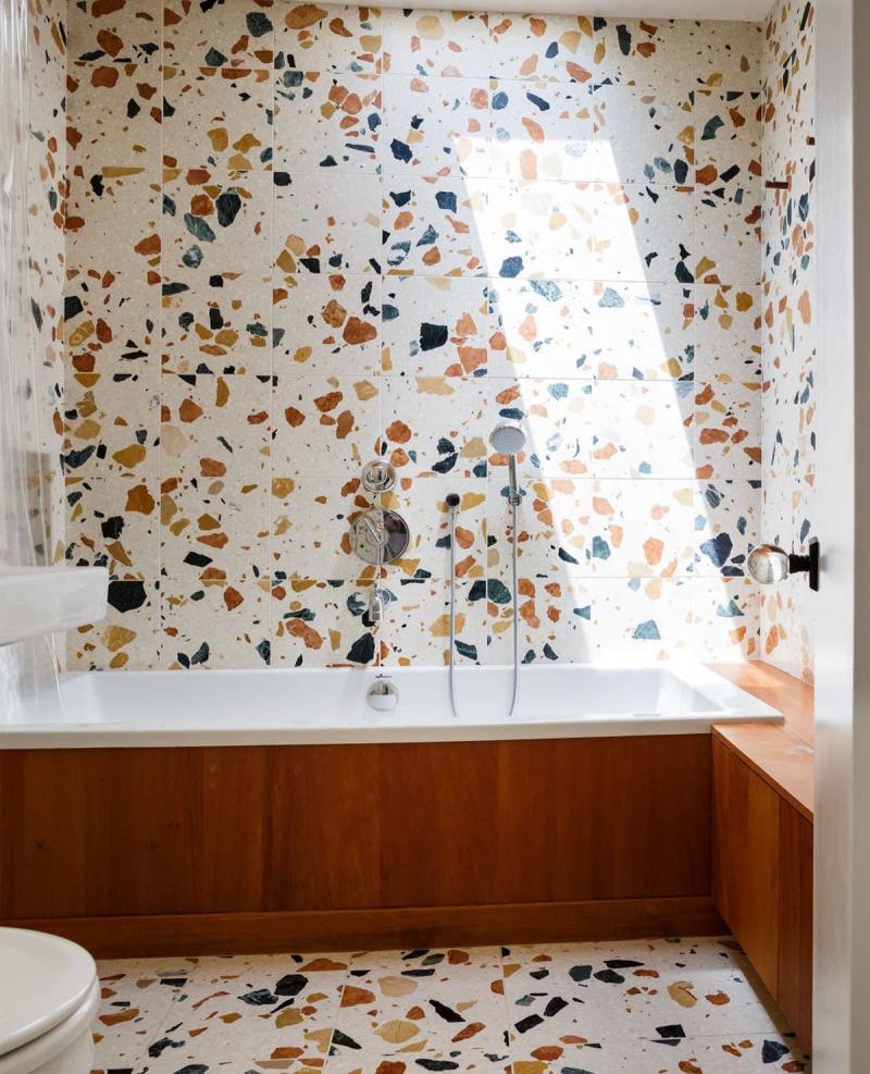 Венецианский терраццо в интерьере ванной комнаты 1
