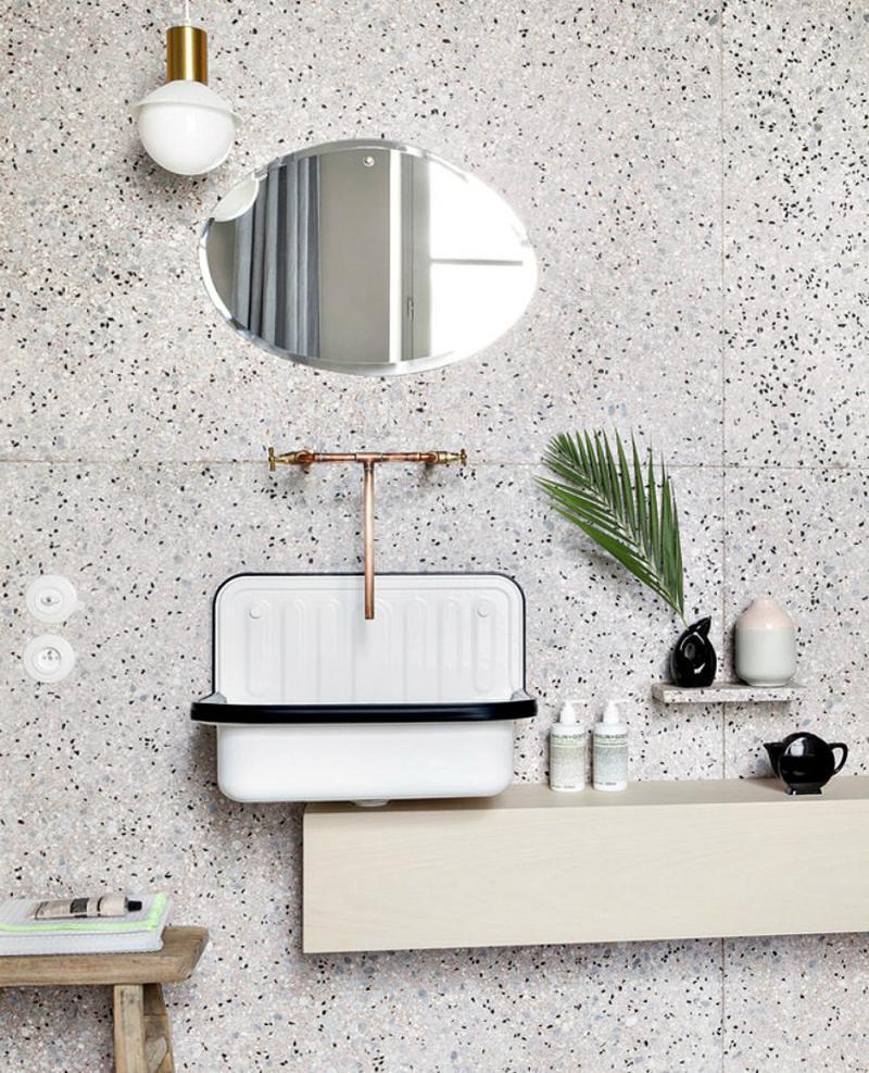 Венецианский терраццо в интерьере ванной комнаты 2