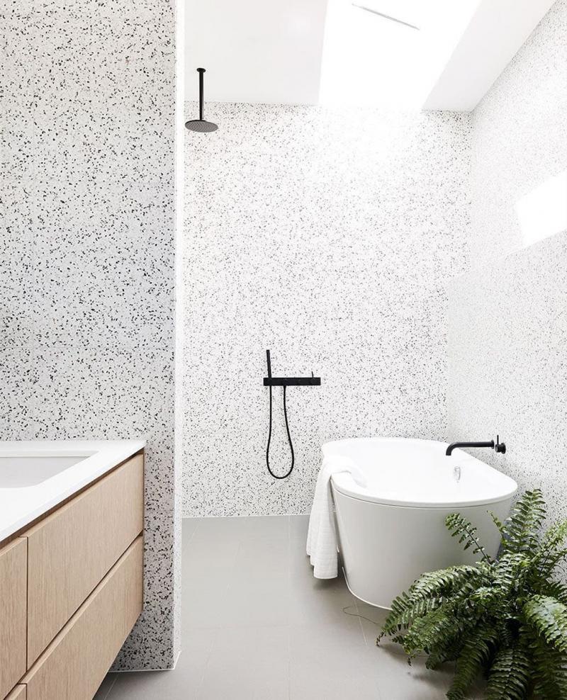 Венецианский терраццо в интерьере ванной комнаты 3