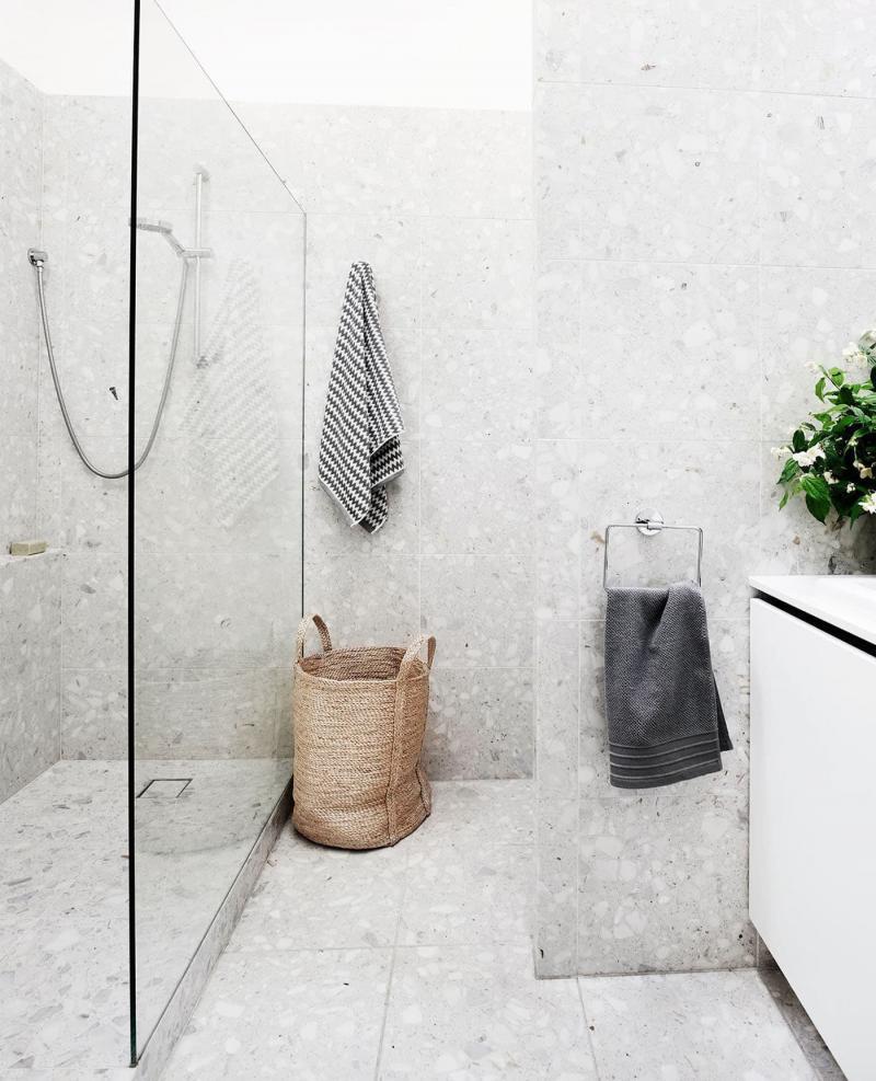 Венецианский терраццо в интерьере ванной комнаты 4