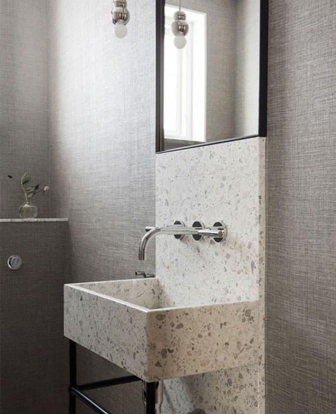 Венецианский терраццо в интерьере ванной комнаты 6