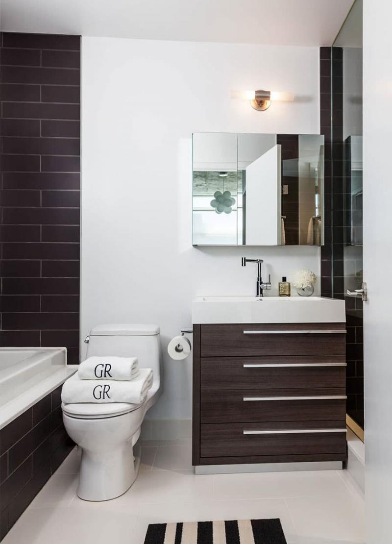 Дизайн маленькой ванной комнаты 6