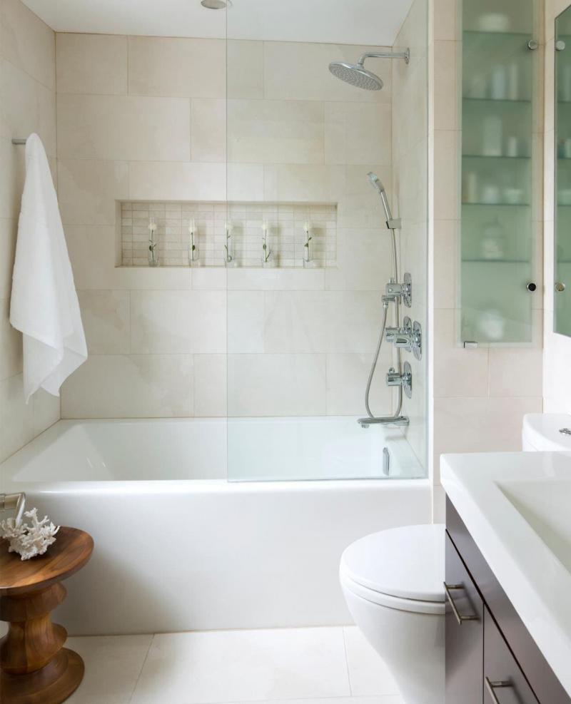 Идея оформления маленькой ванной комнаты 1