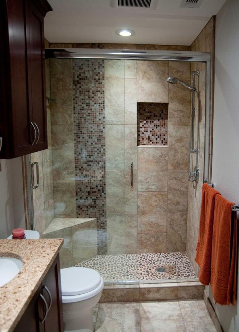 Идея оформления маленькой ванной комнаты 5