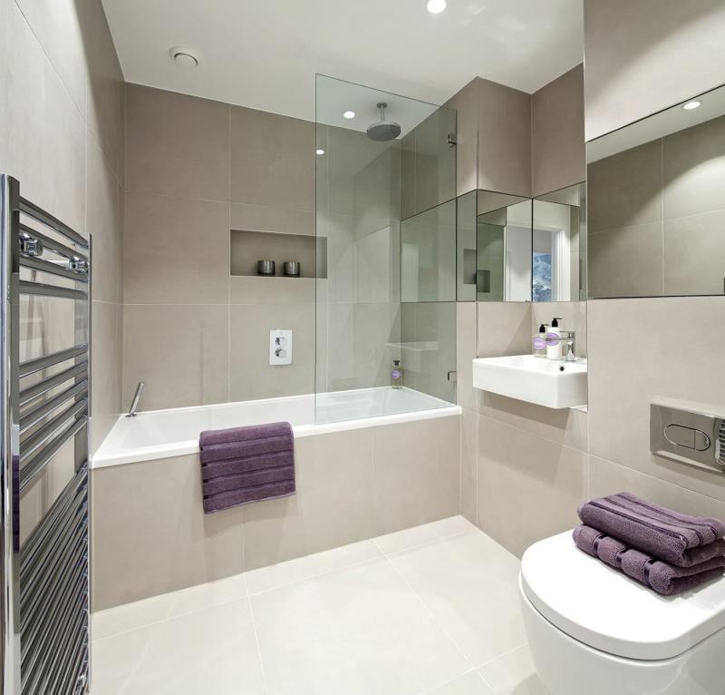 Интерьер маленькой ванной комнаты 7