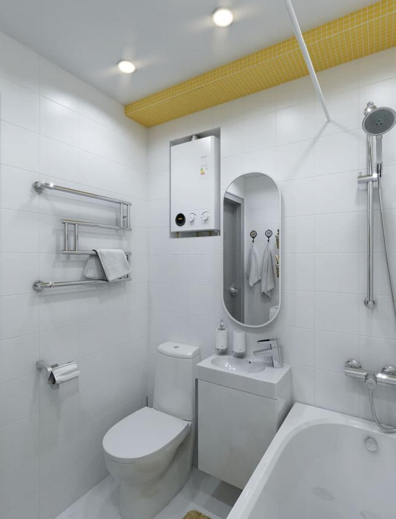 Маленькая ванная комната (интерьер) 2