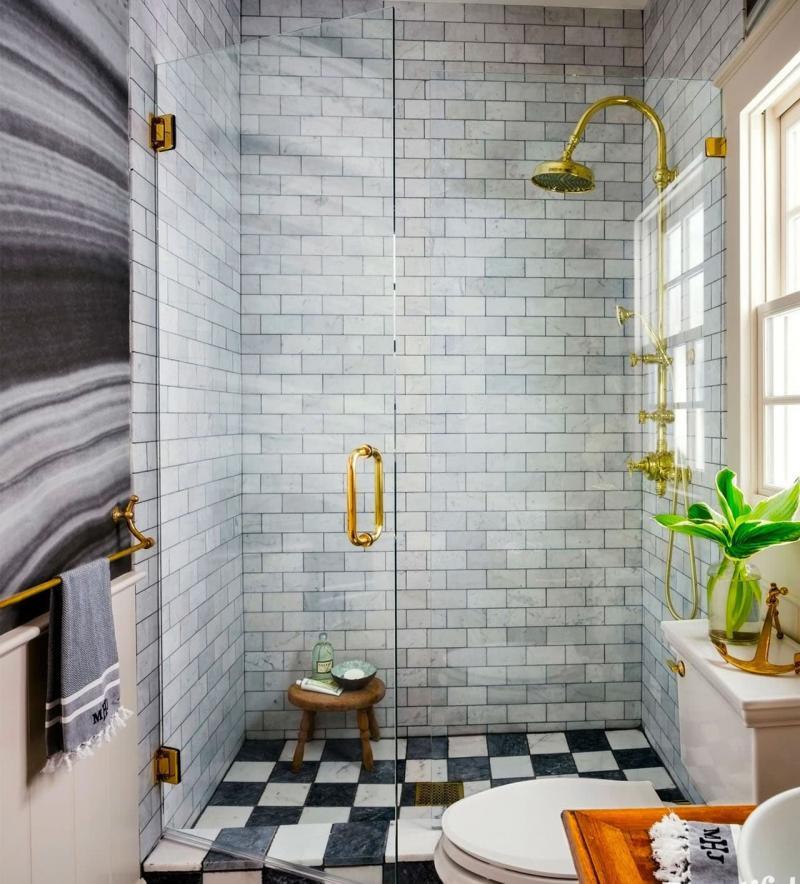 Маленькая ванная комната (интерьер) 7