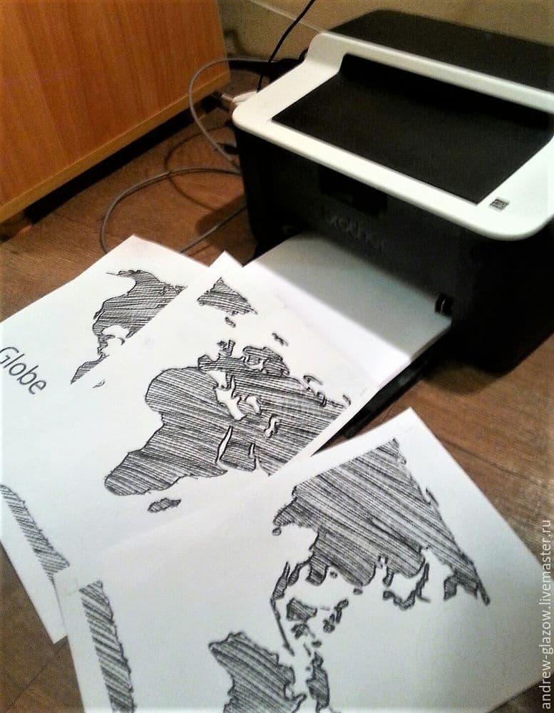 Карта Мира в технике стринг-арт [Мастер-класс]