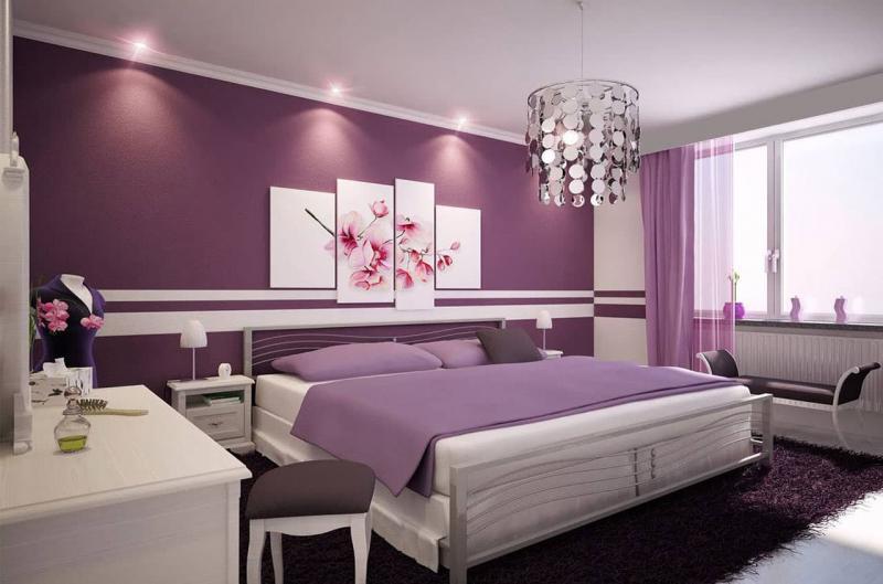 Фиолетовый цвет в интерьере 1