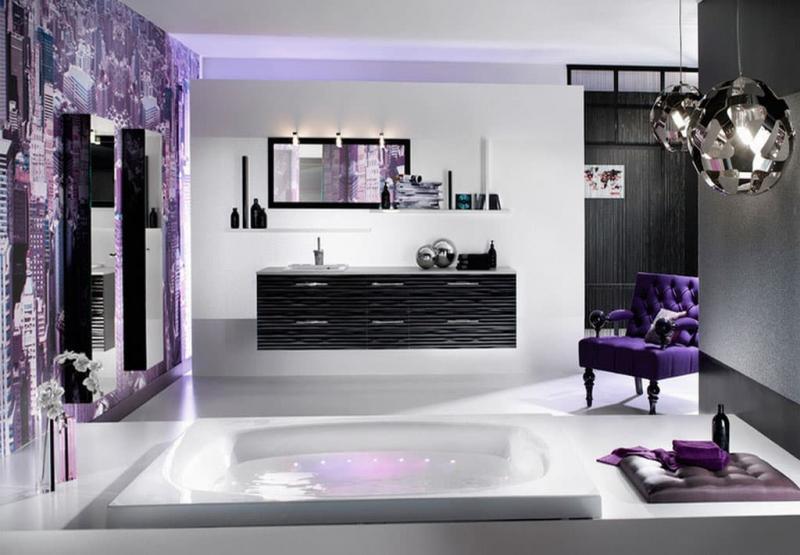 Фиолетовый цвет в интерьере 2