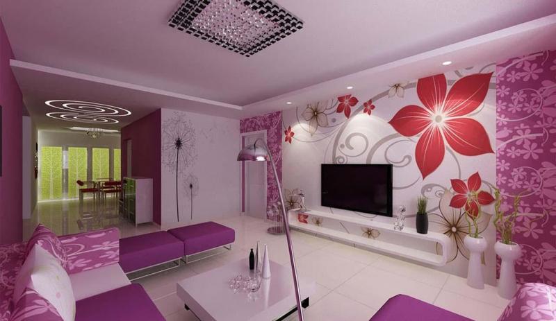 Фиолетовый цвет в интерьере 3