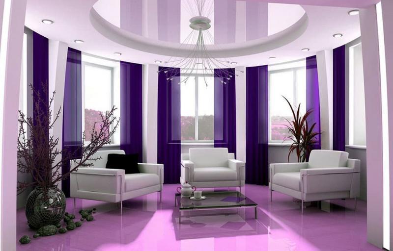 Фиолетовый цвет в интерьере 4