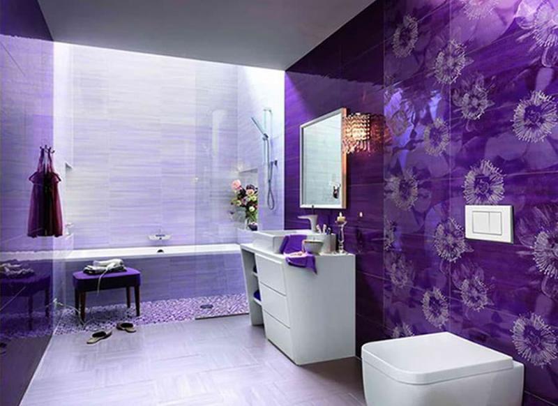 Фиолетовый цвет в интерьере 5