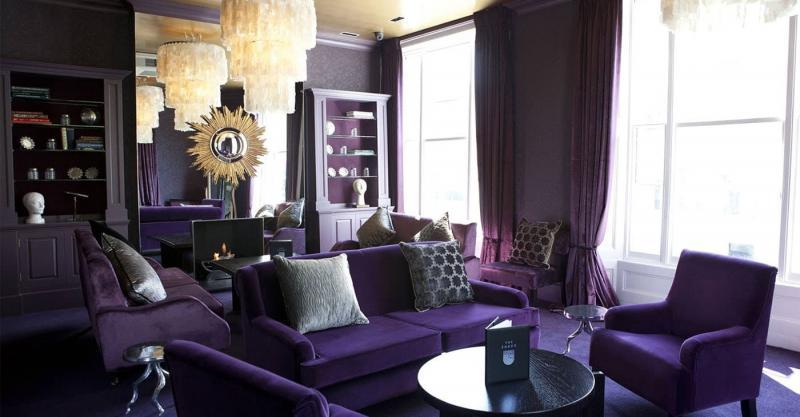 Фиолетовый цвет в интерьере 6