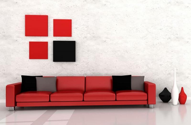 Красный цвет в интерьере 1
