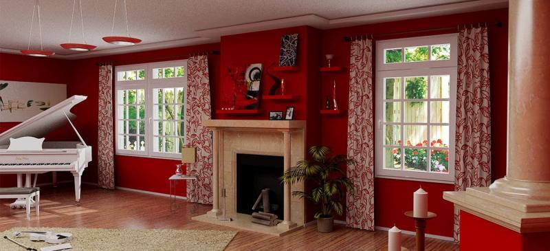 Красный цвет в интерьере 4