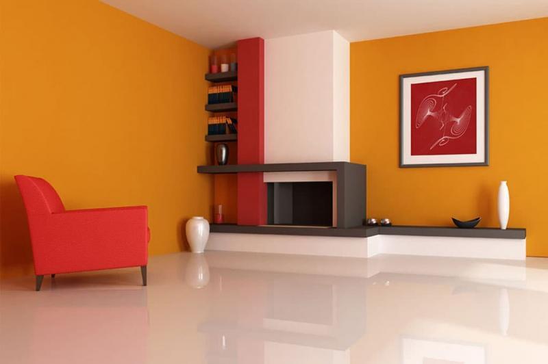 Оранжевый цвет в интерьере 2