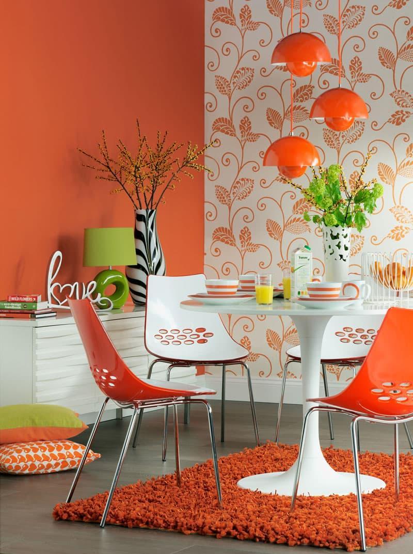Оранжевый цвет в интерьере 5