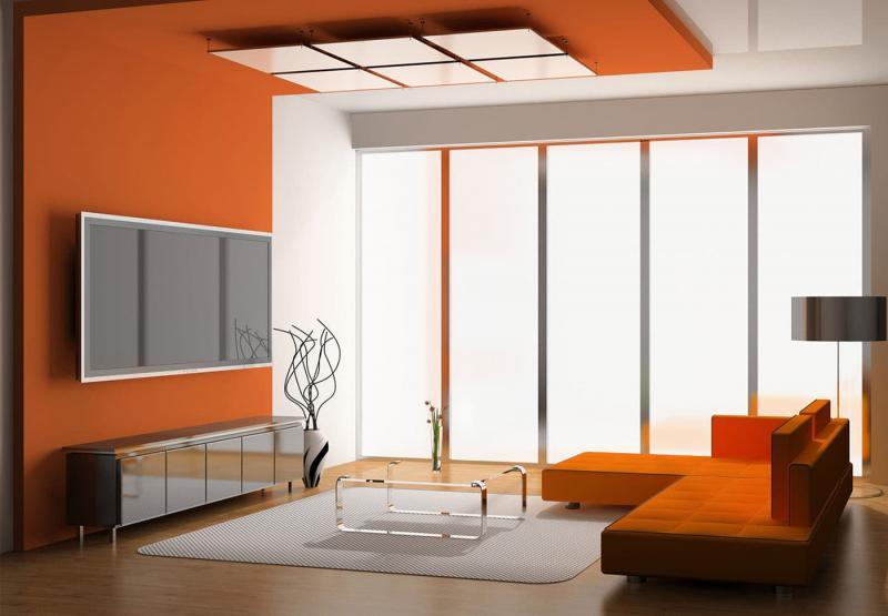 Оранжевый цвет в интерьере 6