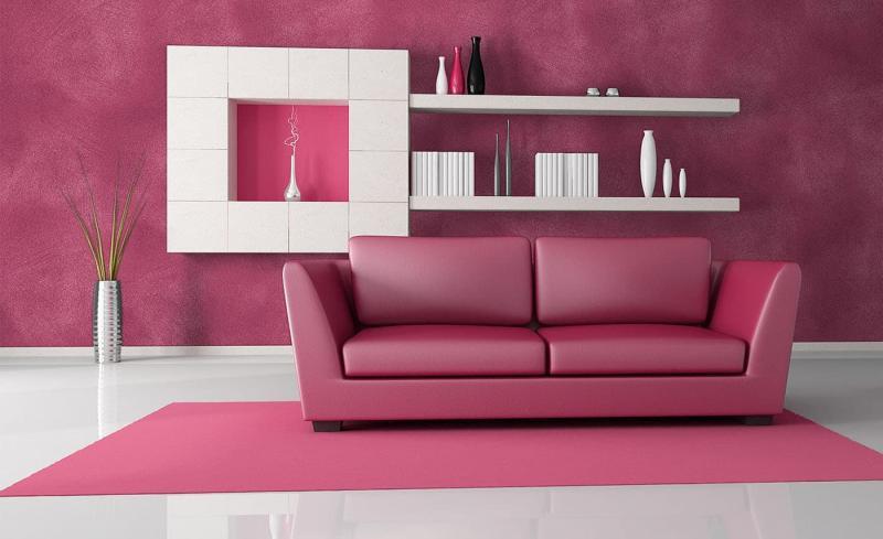 Розовый цвет в интерьере 2