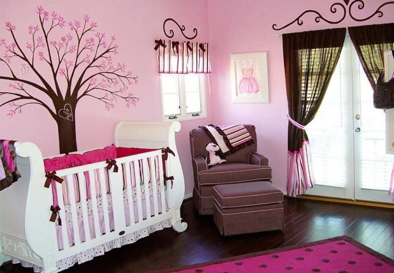 Розовый цвет в интерьере 6