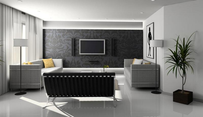 Серый цвет в интерьере 4